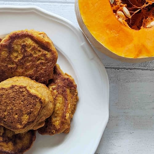 Plate of gluten-free savory butternut squash scones
